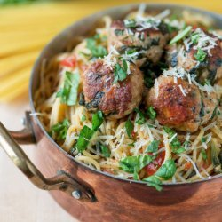 Pasta W/ Spinach & Meatballs