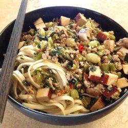 Stir-Fry Mustard Greens With Pork and Dry Tofu