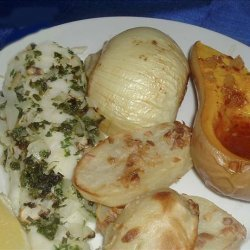 Baked Sea Bass With Herb Sauce