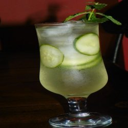 Cucumber Mint and Basil Soda