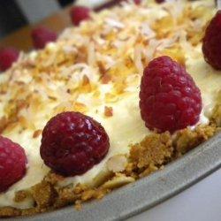 Coconut Raspberry Cream Pie