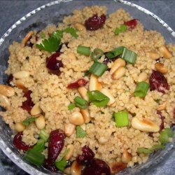 Couscous With Curry, Cranberries and Toasted Pine Nuts recipe