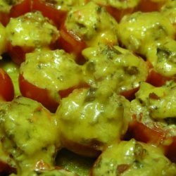 Burst of Flavors Mushroom Stuffed Cherry Tomatoes Baked W.cheese