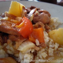 Sweet and Sour Crock Pot Chicken recipe