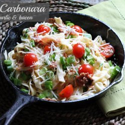 Pasta Carbonara (with Bacon)
