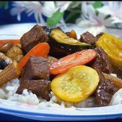 Beef or Chicken Teriyaki Stir-Fry