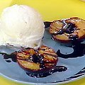 Balsamic Glazed Grilled Plums with Vanilla Ice Cream (Rachael Ray)