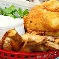 Beer Battered Fish and Chips (Paula Deen)