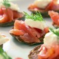 Blinis with Creme Fraiche and Smoked Salmon (Ina Garten) recipe