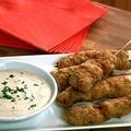 Chicken Fried Steak on Stick with Whatsthishere Sauce (Brian Boitano)