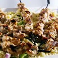 Chicken Satay with Grilled Vegetable Couscous (Sandra Lee)