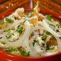 Chilaquiles with Roasted Tomatillo Salsa (Marcela Valladolid)
