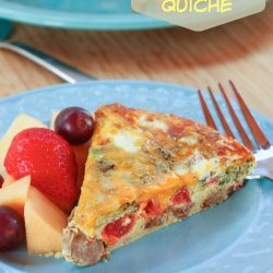 Turkey Sausage & Broccoli Quiche