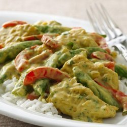 Curried Chicken with Peas