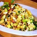 Chopped Apple Salad with Toasted Walnuts, Blue Cheese & Pomegranate Vinaigrette (Bobby Flay) recipe