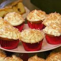Coconut Cupcakes with Coconut Cream Cheese Frosting (Patrick and Gina Neely)