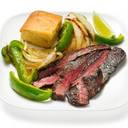 Coffee-Rubbed Steak With Peppers and Onions (Food Network Kitchens)