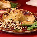 Cornish Hens with Brown Rice Stuffing (Robin Miller) recipe