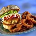 Crab burgers with Celery Root Remoulade Slaw (Guy Fieri)