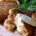 Crab Cakes with Lemon-Dill Sauce (Paula Deen)
