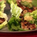 Grilled Chicken Lettuce Wraps with Sesame Miso Sauce recipe
