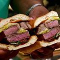 Grilled Rib-Eye Steak Sandwich (Aaron McCargo, Jr.)