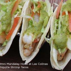 Chipotle Shrimp Taco with Avocado Salsa Verde