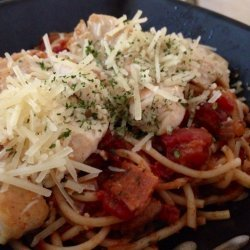 Pasta with Chicken, Bacon and Tomatoes