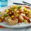 Grilled Shrimp with Mango, Lime and Radish Salsa (Tyler Florence)