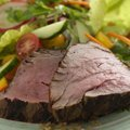 Grilled Spicy Filet Mignon Salad with Ginger-Lime Dressing (Bobby Flay) recipe
