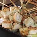 Grilled Swordfish Skewers with Coconut, Key Lime and Green Chile Sauce (Bobby Flay)