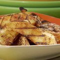 Grilled Yukon Gold Steak Fries with Chile-Cheese Sauce (Bobby Flay)