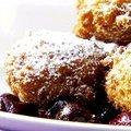 Italian Donuts with Cherry Sauce (Sandra Lee)