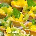 Kiwi and Mango Tartlets