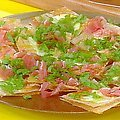 Lavosh Smoked Cheese and Ham Pizzas (Rachael Ray)