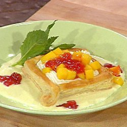 Puff Pastry Shells with Cream Cheese, Guava Jelly and Ginger Creme Anglaise (Emeril Lagasse) recipe