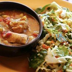 Chicken Cauliflower and Potato Red Curry