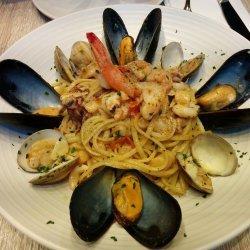 Seafood Pasta Clams,Scallops, Shrimp