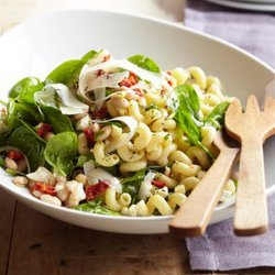 Spinach Feta and Bean Pasta Salad