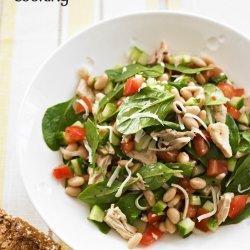 Tuna, White Bean and Spinach Salad