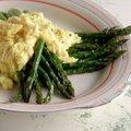 Scrambled Eggs over Asparagus (Claire Robinson)