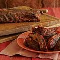 Spice Rubbed Smoked Ribs with Maple-Horseradish Baste (Bobby Flay)