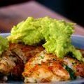 Spicy Crab Cakes Topped with Guacamole (Marcela Valladolid)