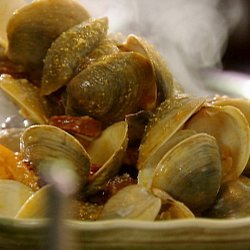 Steamed Clams with Chorizo, Citrus and Saffron Aioli (Tyler Florence)