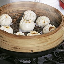 Steamed Seafood Buns with Soy Dipping Sauce