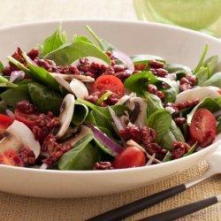 Super Food Spinach Salad with Pomegranate-Glazed Walnuts (Food Network Kitchens)