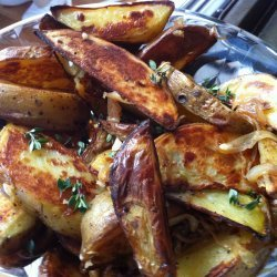 Roasted Potatoes, Onion, and Garlic