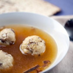 Truffled, Shiitake Matzo Ball Soup recipe