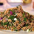 Whole-Wheat Pasta Salad with Walnuts and Feta Cheese (Ellie Krieger)
