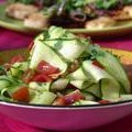 Zucchini Ribbon Salad with Lime Juice, Red Chile and Peanuts (Aarti Sequeira)